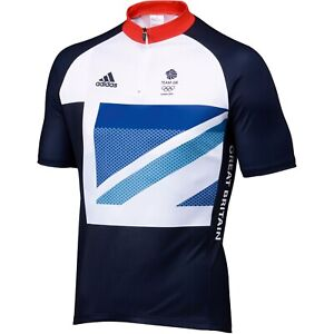 Adidas Team GB London 2012 Olympics Short Sleeve Cycling Jersey Size Large BNWT