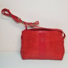 Vintage Red Fendi Leather Womens Purse 1988 Roma Italy RARE