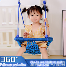Hammock Chair Swing Hanging Rope Seat Net Chair Outdoor Porch Patio Home garden