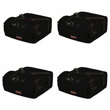 """Case of 4 Pizza Bags (Holds 4-5 16"""" or 18"""" pizzas) Black"""