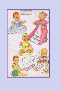 """Doll Clothes PATTERN 2001 for 13"""" 14"""" Tiny Tears Dydee Betsy Wetsy Kathy Ideal"""