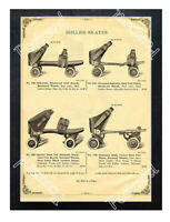 Historic Roller Skates Advertising Postcard