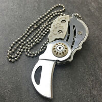 Stainless Steel Necklace Knives EDC Folding Knife Outdoor Survival Pocket Knife