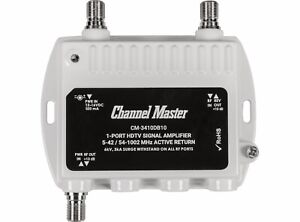 Channel Master 1-Port TV Antenna Signal Booster Distribution Amplifier 3410DB10