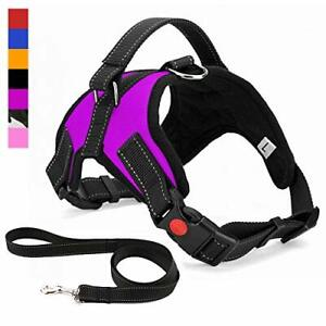 Musonic No Pull Dog Harness Breathable Adjustable Comfort Free Leash Included XS