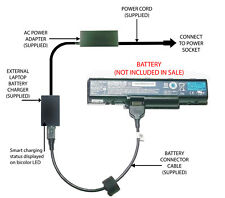 External Laptop Battery Charger for Acer Aspire 4710 5532 5735, AS07A31 AS09A31