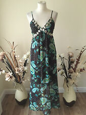 NWT PUSSYCAT LONDON SIZE SMALL BLACK / GREEN PAISLEY PRINT DRESS
