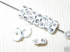 20 Swarovski Rondelles 8mm White / Crystal -  SR832