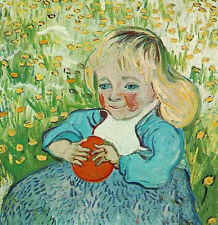 Art Oil painting Vincent Van Gogh - Little girl holding an orange on canvas
