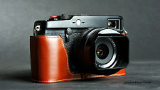 Handmade Vintage real Leather Half Camera Case bag cover for FUJIFILM X-Pro1