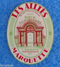 étiquette de bière les alliés - l'abbaye de marquette