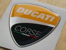 Yellow Ducati Corse 2010 3D Domed Badge WSB GP 60mm