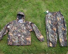 Microfleece Waterproof  Camoflauge Deer Hunting Pants & Jacket Set Burly Camo XL
