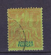 COLONIES FRANCAISES SOUDAN N°   9 oblitéré, B/TB, cote: 34.00 €