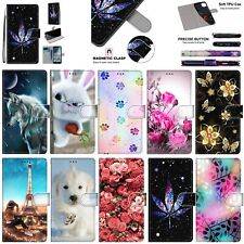 For Nokia X5 4.2 3.1 2.2 2.1 Moto G7 E5 Patterns Leather Wallet Stand Case Cover