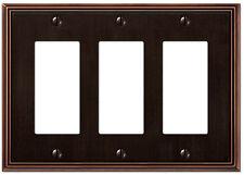Metro Line Antique Bronze Triple (3) Gfi Rocker Switchplate Wallplate
