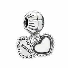 New Authentic Pandora Charm My Special Sister Heart Dangle 791383 Box Included