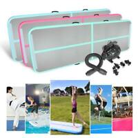 Airtrack Inflatable Air Track Tumbling Gymnastic Mat Train Gym Floor Home + Pump