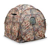 Portable Ground Hunting Blind Deer Turkey 4-Panel Steel Frame Backpack Carry Bag