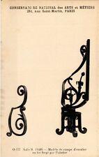CPA PARIS (3e) Cnam - Rampe d'escalier en fer forgé (215098)