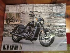 "Lot of 2 Harley Davidson Street Motorcycle 18"" x 24"" Poster & 6"" x 4"" Card NEW"