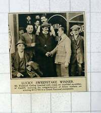 1920 Lucky Sweepstake Winner Mr Frederick Gollop Invalid Soldier Cardiff