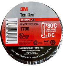 New listing 3M TemFlex 1700 Vinyl Electrical Tape 3/4in x 60 ft - Black