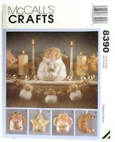 McCall's Christmas Crafts Pattern #8390 Decor, Angels, Stars, Wreaths Ornaments