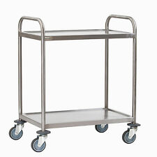 Stainless Steel 2 Tier Serving Trolley Small