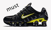 """Nike Shox TL """"Black/Dynamic Yellow/Metallic Silver"""" Men's Shoe All Sizes"""