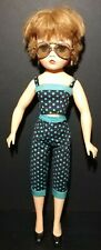 "Vintage Uneeda 2S Doll 1950s Style Beach Babe 19"" Hard Plastic"