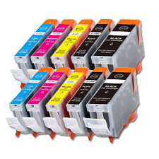 10PK Combo Printer Ink chipped for Canon PGI-5BK CLI-8 MP810 MP830 MX850 iP4300
