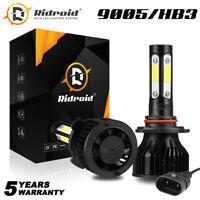4Side 9005 HB3 LED Headlight Bulb High Beam 6000K Super Bright White Light Pair