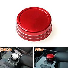 Red Multimedi Switch Button Cover Trim For Benz W212 E200/250 E300/350 2015 2014