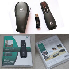 Wireless Logitech R400 Presenter Red Laser Pointer Receiver Remote Control Pen