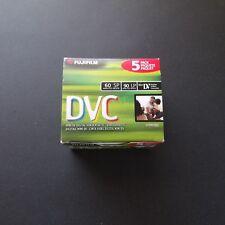 Fujifilm 60 ME DVC Cassette Mini DV DVM60 Digital Video Cassette 5 pack