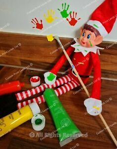 Naughty Christmas Elf Sticky Hand Print Novelty Sticker Prop + Free Postage!