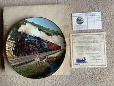 "Artaffects Classic American Train Plate ""Homeward Bound"" Jb Deneen w/ Coa"