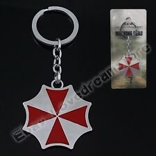 Resident Evil Umbrella Corporation Logo Metal Key Ring Chain NIB