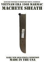"MARMAC 1968 VIETNAM ERA US MILITARY USGI 18"" MACHETE SHEATH KNIFE SHARPENER NEW"