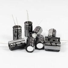 5 x Condensadores electrolíticos NICHICON 100uF 450V 105ºC Capacitors