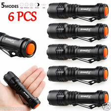 6pc Mini CREE Q5 AA/14500 3Modi Flashlight Zoom LED Superhellen Taschenlampen