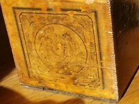 Incredible Antique Wooden New Season's Chinese Tea Crate Box Great Graphics!