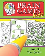 Brain Games for Kids Spiral Bound Fun Puzzles Brain Teasers Crossword Word Games