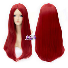 Long Straight Red Wig for The Nightmare Before Christmas Sally Anime Cosplay Wig