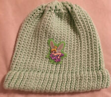 Soft Light Green Beanie with Disney Inspired Tinkerbell Fairy Patch Pixie Dust
