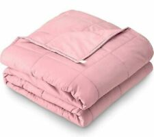 """Ultra Soft Pink Weighted Heavy Blanket 15/20lbs 60""""x80""""  for WomenTeens Adult"""