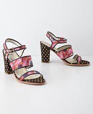 NEW Anthropologie Petunia Print Heels Sandals Size 8.5