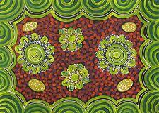 Australian Aboriginal Art by Famous Artist DULCIE LONG BUSH TUCKER 84x63cm