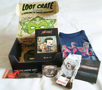 Complete Loot Crate 'Cursed' October 2018. Evil Dead. Mogwai. Attack on Titan.